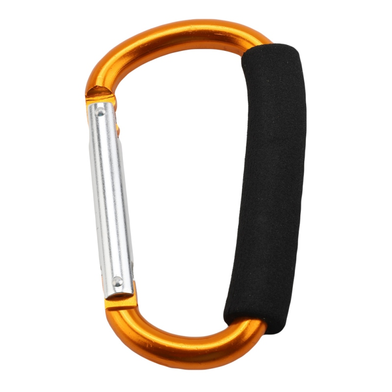 Large D-shape Aluminum Alloy Carabiner Quick-release Soft Handle  Camping Buckle Hook Outdoor Keychain Carabiner Clip