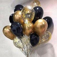 Feliz aniversário balão 18th 30th 50th metal látex balão decorações de festa aniversário adulto crianças hélio ar globos decoração do casamento