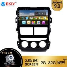 EKIY For Toyota Vios Yaris 2018 2019 Auto Radio 2 Din Android 9 DVD Car Multimedia Video Player Stereo Navigation GPS Head Unit