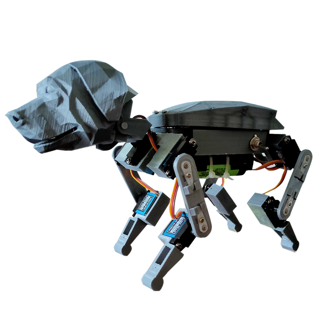 Programmable Mechanical Cat 11DOF Bionic Quadruped Crawling Robot Toy  Programmable Toys Game  Drop Shipping