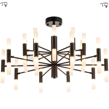 Luxurious Molecular Chandelier Led light Fixture Lustre Postmodern Nordic Simple Personality Creative Dining Living Room Bedroom chandelier nordic industrial style post modern simple creative personality dining room living room bedroom balcony