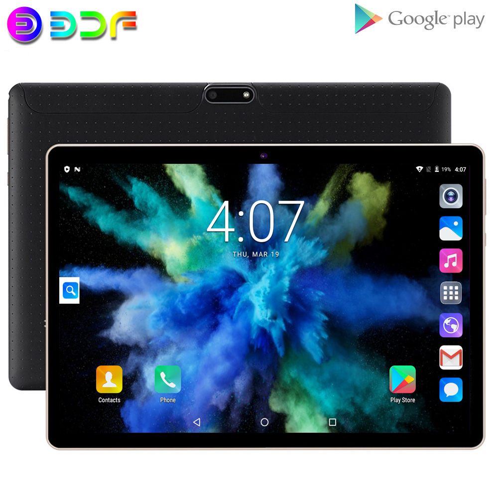 BDF Tablet Pc 10 Inch Quad Core Android 6.0 Dual SIM 3G Phone SIM Card Phone Call Network Tablet 2GB + 32GB IPS HD Screen Tab