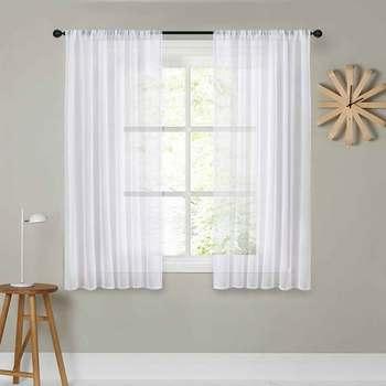 rideau unis simple pour cuisine chambre