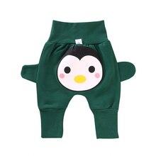Осенние детские штаны на подгузник, штаны для мальчиков и девочек, детские штаны, милые штаны с рисунком животных для 2-32 месяцев