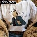 Женские Графический Диего ча-аниме футболка только после того, как Зонт Академии Harajuku футболка смешные футболки с героями мультфильмов пов...