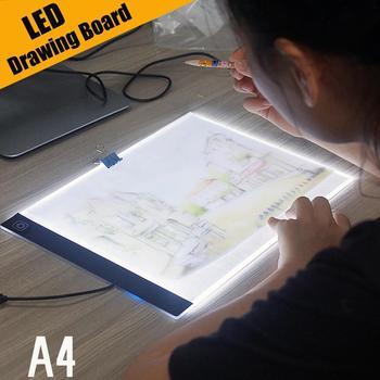 Ultra cienka podświetlana podkładka LED A4 podświetlana tablica artystyczna tablica do pisania tablica do pisania obraz w hafcie diamentowym tanie i dobre opinie CN (pochodzenie)