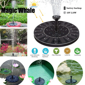 Image 1 - Dropshipping MINI Solar Powered Floating Bird Bath Water Panel Fountain Pump Garden Pond Pool