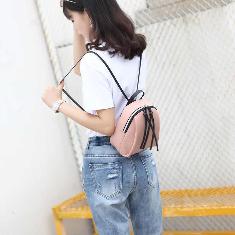 สบายๆกันน้ำกระเป๋าเป้สะพายหลังผู้หญิง PU หนังกระเป๋ามินิซิปกระเป๋าและกระเป๋าเดินทางหญิงกระเป๋าเป้สะพายหลัง