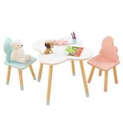 Ins kinder Studie Tisch und Stühle Kindergarten Cartoon Wolke Kleine Tabelle Schreiben Spielzeug Spiel Tisch und Stuhl Set
