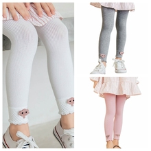 Girls Shiny Solid Color Leggings Childrens Clothing Children\\\s Cute Trousers New Spring Autumn