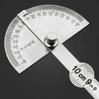 High quality 10cm180 Degree Goniometer Adjustable semicircular Protractor Stainless Steelc Angle ruler Woodworking Measuring Too