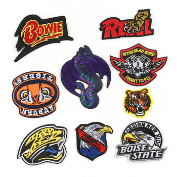 High Quality 3D Clothing DIY Patches Bald Eagle Evil Pterosauria Fly Dragon Cool Embroidered Iron on Badge image