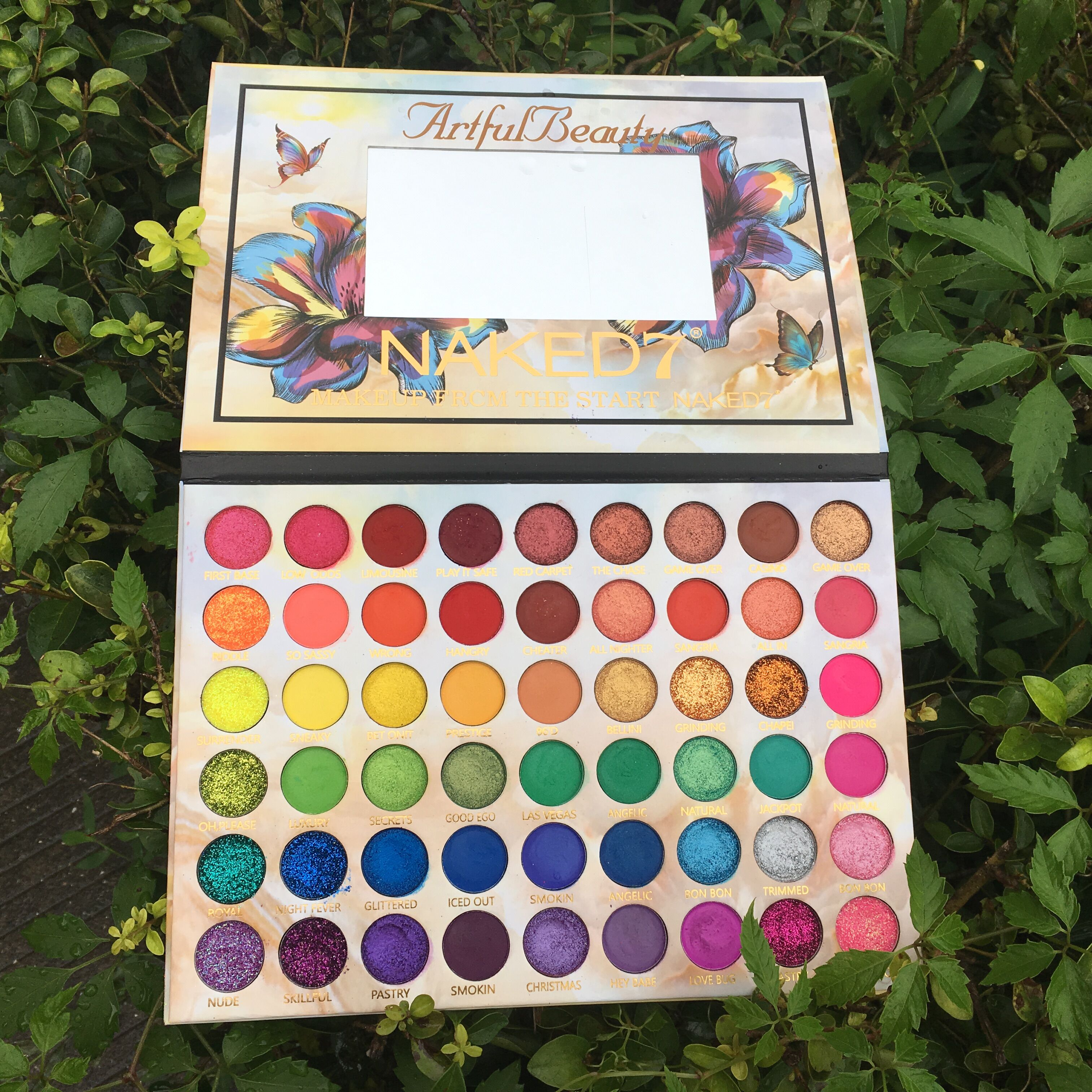 2019 New Makeup Artful Beauty Eyeshadow Palette 54 Colors Matte Shimmer Glitter Pigment Eye Shadow Pallete Cosmetic