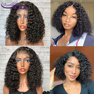 Image 1 - Brazilian Wig 4x4/5x5/7x7 Lace Closure Wig Curly Human Hair Wig Preplucked Human Hair Wigs Pre Plucked Hairline Dream Beauty