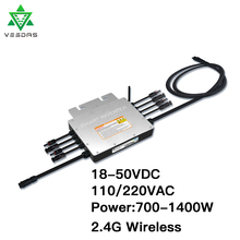 1000-1400W PV Solar Micro Inverter 24V 36V On Grid Tie Inversor Smart Microinverter 110V 220V Pure Sine Wave For 4*350W Plate