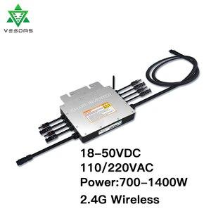 1000-1400 Вт PV солнечный микро инвертор 24 в 36 В на сетке галстук Inversor умный микроинвертор 110 В 220 В Чистая синусоида для 4*350 Вт пластины
