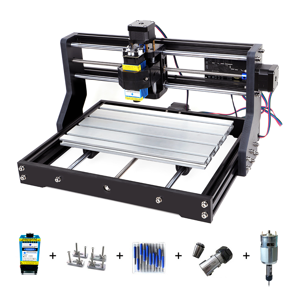 CNC 3018Pro Laser Engraver 3 Axis Milling Laser Engraving Machine For Sculpture Wood Router Support Offline Laser Cutter 0.5-15W