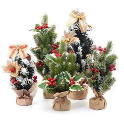 Рождественская елка 20-55 сантиметров Высокая Рождественская елка маленькое Рождественское дерево Рождественское украшение, подарок флэш