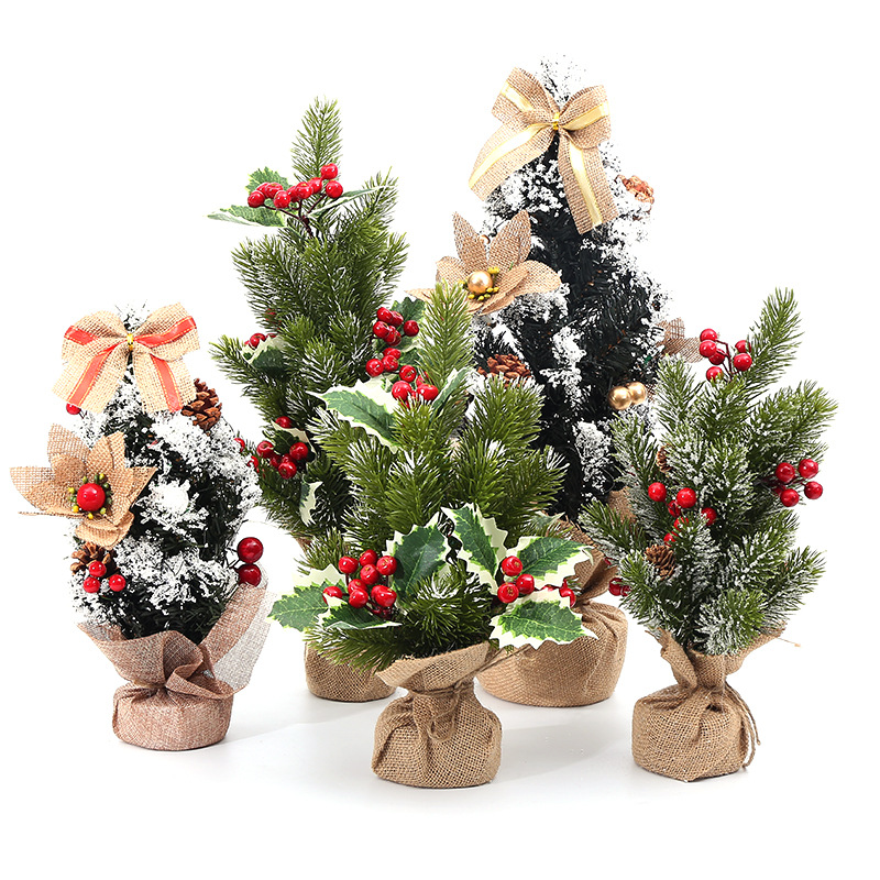 Christmas Tree 20-55 Centimeter High Christmas Tree Small Christmas Tree Christmas Decoration Gift Flash Christmas Tree