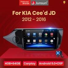 Junsun V1pro 4G+64G CarPlay Android 10 DSP For KIA Cee'd CEED JD 2012-2016 Car Radio Multimedia Video Player Navi GPS 2 din dvd
