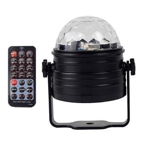 Дискотечный шар, светодиодные Вечерние огни, звуковая активация, Вращающийся Dj сценический эффект освещения, Rgb Мини Ночная декорация, музыкальная лампа (Us Plus