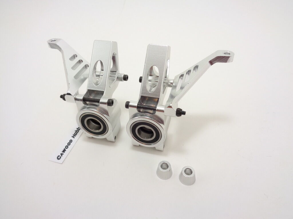 NEW HPI BAJA 5T 5B COMPLETE SILVER ALUMINUM FRONT HUBS CARRIERS KNUCKLES ROVAN