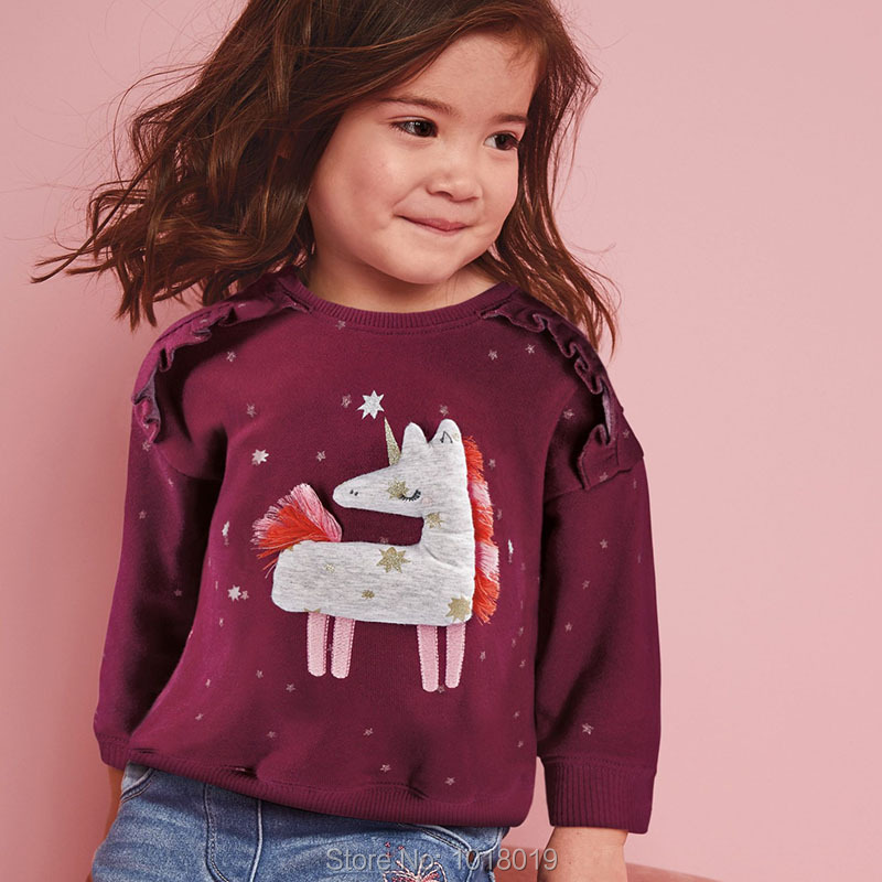Kids Hoodies Outerwear Bebe Girls Tops Fleeces Sweatshirt Baby Girl Clothes Sweaters 100% Interloop Cotton t shirts Cartoon Tees 2