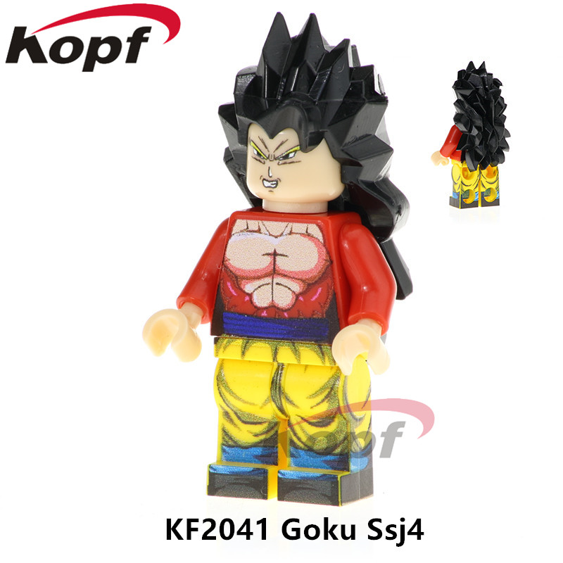 Single Sale Dragon Ball Z Figures Goku Ssj4 Super Heroes Future Trunks Launch Son Gohan SS Building Blocks Kids Gift Toys KF2041 image