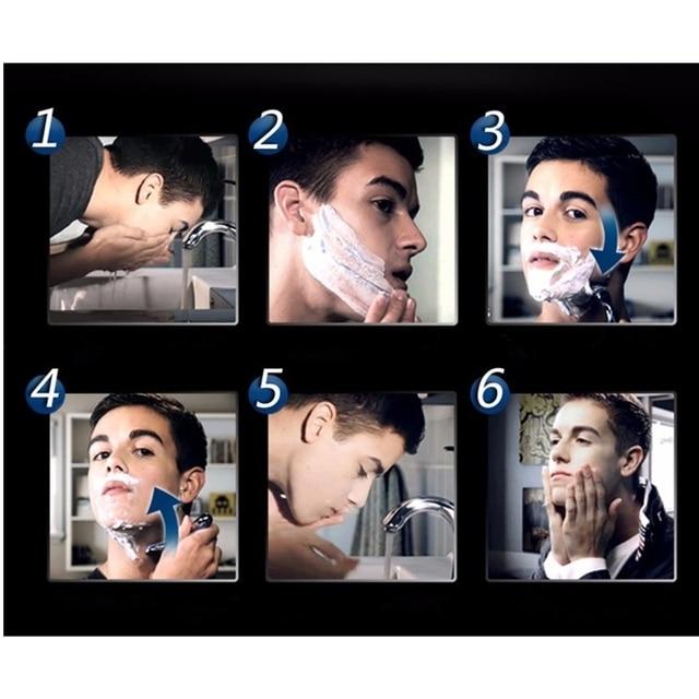 4pcs/lot Excellent Shaving 5 Layers Razor Blades Compatible for Gillette Fusion For Men Face Care or Mache 3 5