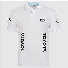 Летняя Высококачественная брендовая рубашка поло с логотипом Toyota, рубашка с коротким рукавом, модная повседневная Однотонная рубашка поло, рубашки унисекс