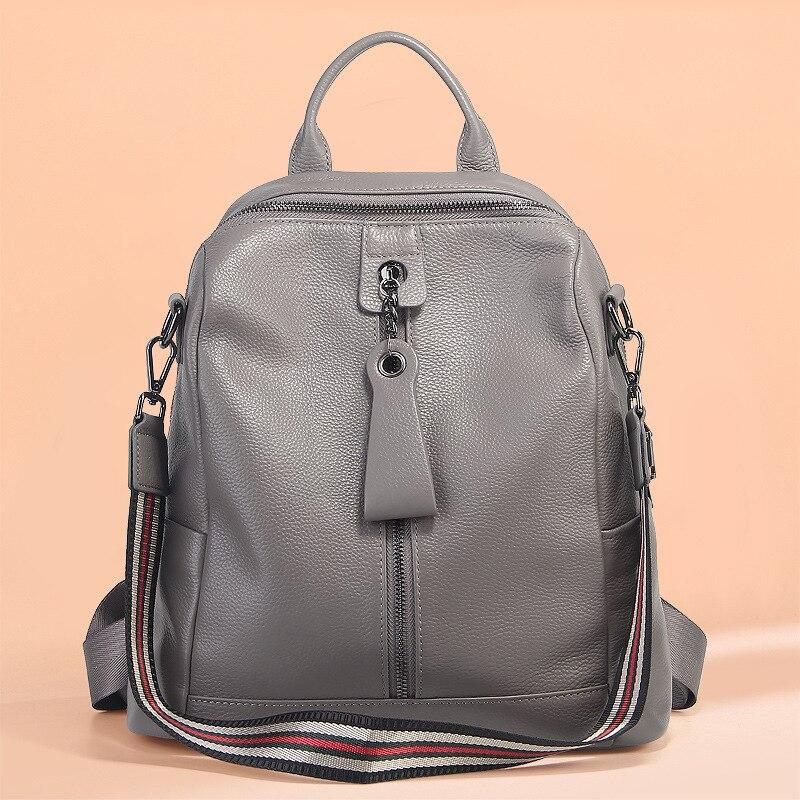 P-F sac femmes sacs à dos en cuir de haute qualité véritable sac à dos Mochila Feminina sac à dos femme sacs d'école loisirs