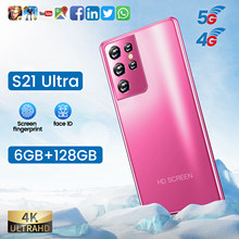 Global Version S21 Ultra 5.0 Inch Smartphone HD Full Screen 6GB+128GB Android 16MP+32MP Camera 5000mAh Big Battery Cell Phone