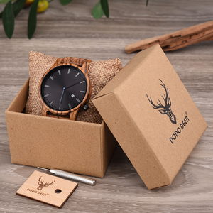 Image 5 - DODO DEER Men Wood Watch Stylish Simplicity Calendar Quartz Sport Male Relogios Masculino Wristwatches Men Shock Gift for Him