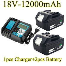 2021 new Makita bl1880 bl1860 bl1830 rechargeable battery + charger 18V 12.0ah, 12000mah Li ion battery, power tools