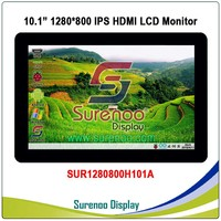 10.1 10.1 inch 1024*600 1280*800 HDMI LCD Module Display Monitor IPS Screen with USB Capacitive Touch Panel for Raspberry Pi