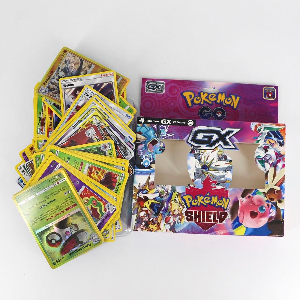 TAKARA TOMY Pokemon carte Tag entraîneur d'équipe GX épée bouclier Collection brillant boîte cartes Flash énergie 56 pièces jouets pour les enfants