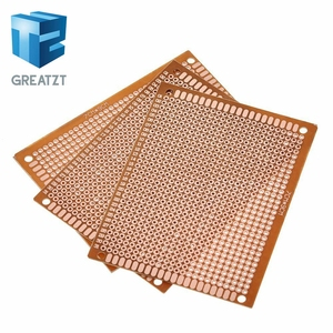 10pcs 7x9 7*9cm Single Side Prototype PCB Breadboard Universal Board Experimental Bakelite Copper Plate Circuirt Board Yellow
