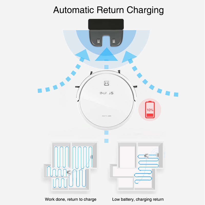 IMASS A3S Robot Vacuum Cleaner Powerful Suction For Camera Navigation Various Cleaning Mode With APP Control IMASS A3S Robot Vacuum Cleaner Powerful Suction For Camera Navigation Various Cleaning Mode With APP Control Auto Charge Mopping