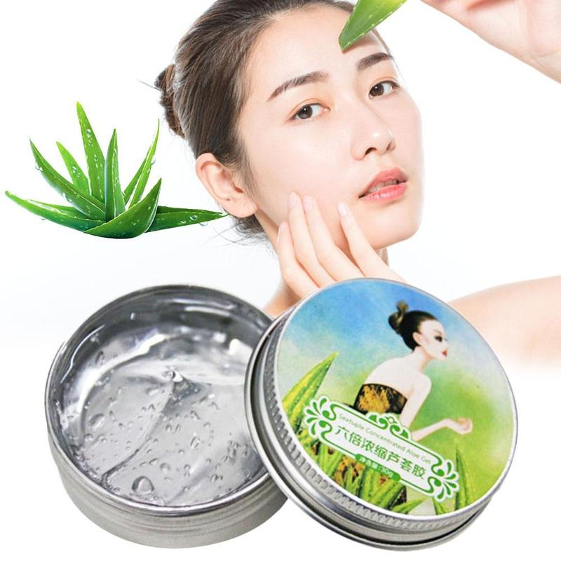 Aloe Vera Gel 100% Pure Natural Organic Face Body Skin Care 6x Concentrated Hydrating Moisturizing Repair Acne Smooth Gel Hot