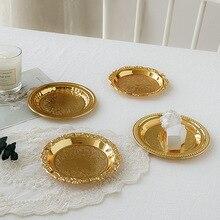 Ins النمط الأوروبي الرجعية لوحة معدنية صور الدعائم الحلي والمجوهرات والمجوهرات البندول التصوير الديكور اطلاق النار خلفية