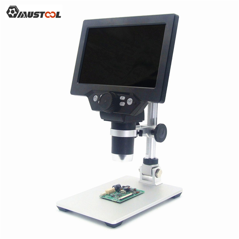 Mustool G1200 Digital Microscope 12MP 7Inch Large Color Screen Large Base LCD Display 1-1200X Continuous Amplification Magnifier