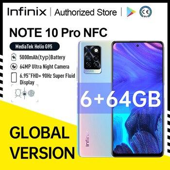 "Global Version Infinix Note 10 Pro Original MobilePhone NFC 6+64G 64MP Camera 6.95"" 90Hz FHD Display Octa-core MTK Helio G95 1"