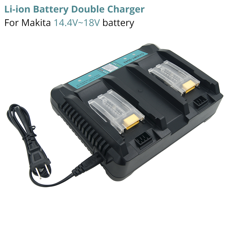 Double Charger Power Tools Battery Charger for Makita 14 4V 18V rechargeable Batteries BL1815 BL1830 BL1840 BL1850 BL1440 BL1430