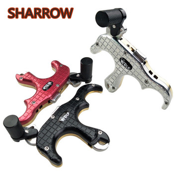 1Pc Archery Automatic 3 Finger Release Aid Brass Trigger Compound Bow Thumb Release Right Hand For Shooting Training Accessories