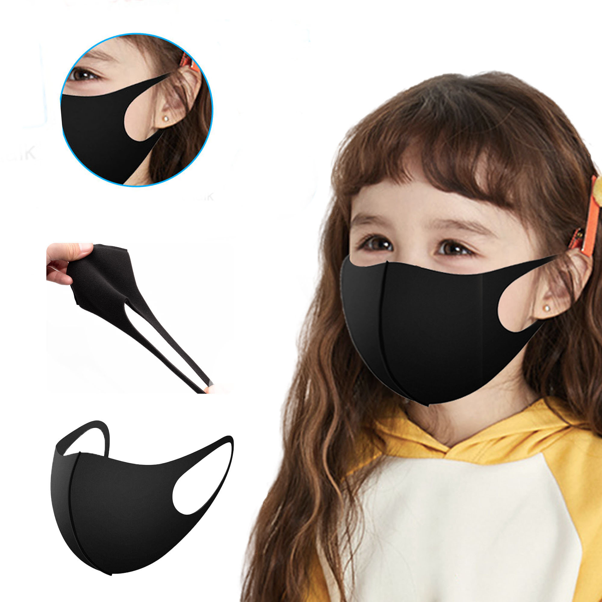 5Pcs Fashion KPOP EXO LUHAN Kids Mask Respirator Winter Warm Windproof Mouth Face Mask Children Mask K-pop Masks Mondkapjes