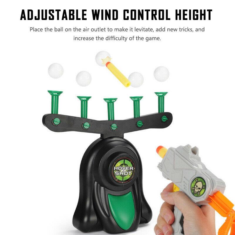 Tiro de ar elétrico pairando bola engraçado flutuante alvo airshot jogo espuma dardo blaster tiro bola brinquedo presente do miúdo