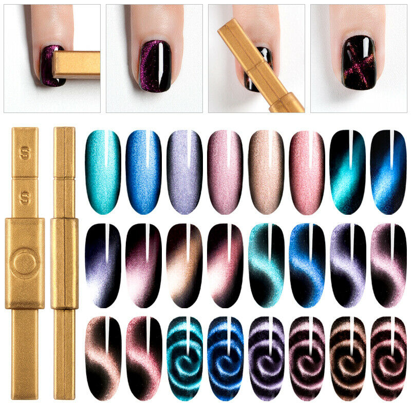 Multi-function Nail Art Magnet Stick Cat Eyes Magnet For Nail Gel Polish 3D Line Strip Effect Strong Magnetic Pen Tools Manicure