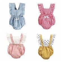 Sanlutoz princesa do bebê meninas bodysuits algodão bebê menina roupas para recém-nascido bonito verão bebê bodysuit