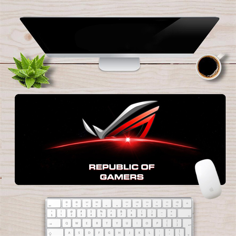 70x30cm Large ASUS Mouse Pad Cool Custom  Republic Of Gamers Gaming Mousepad Office Computer Keyboard Laptop Notebook Desk Mat