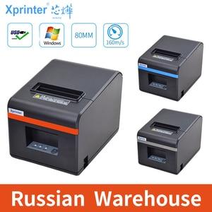 Image 1 - Xprinter 80 Mm Thermische Printers Ontvangst Pos Ticket Printer Met Auto Cutter Voor Keuken Usb/Ethernet Ondersteuning Kassalade esc/Pos